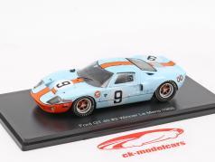 Ford GT 40 Gulf #9 胜利者 24h LeMans 1968 Rodriguez, Bianchi 1:43 Spark