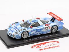 Nissan R390 GT1 #32 tercero 24h LeMans 1998 Suzuki, Hoshino, Kageyama 1:43 Spark