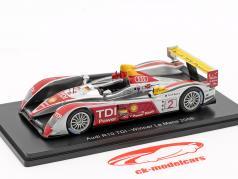 Audi R10 TDI #2 勝者 24h LeMans 2008 Capello, Kristensen, McNish 1:43 Spark