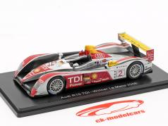 Audi R10 TDI #2 winnaar 24h LeMans 2008 Capello, Kristensen, McNish 1:43 Spark