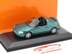 Honda CR-X del Sol year 1992 green metallic 1:43 Minichamps