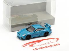 Porsche 911 GT3 Baujahr 2017 blau 1:87 Minichamps