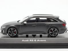 Audi RS 6 Avant year 2020 daytona grey 1:43 Minichamps