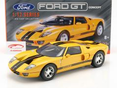 Ford GT Concept Car 2004 yellow / black 1:12 MotorMax