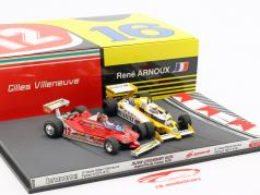 2-Car Set Ferrari 312T4 & Renault RS12 French GP F1 1979 1:43 Brumm / Spark
