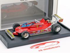 Gilles Villeneuve Ferrari 312T4 #12 segundo francés GP fórmula 1 1979 1:43 Brumm
