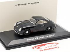 Porsche 356 Coupe Ferdinand 70e anniversaire année de construction 1950 noir 1:43 LuckyDieCast