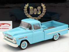 Chevrolet Apache Pick up Construction year 1959 Light Blue 1:18 BoS-Models / 2. choice