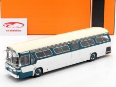 GMC Bus New Look Fishbowl Opførselsår 1969 turkis / sølv 1:43 Ixo