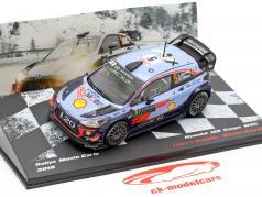 Hyundai i20 WRC #5 quinto Rallye Monte Carlo 2018 Neuville, Gilsoul 1:43 Altaya