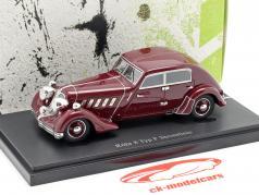 Röhr 8 type F Streamline Bouwjaar 1932 donker rood 1:43 AutoCult