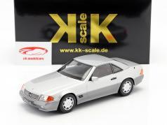 Mercedes-Benz 500 SL (R129) año de construcción 1993 plata 1:18 KK-Scale