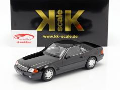 Mercedes-Benz 500 SL (R129) year 1993 black metallic 1:18 KK-Scale