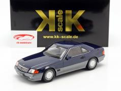 Mercedes-Benz 500 SL (R129) año de construcción 1993 azul metálico 1:18 KK-Scale