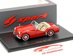 Triumph TR2 Bouwjaar 1954 rood 1:43 Spark