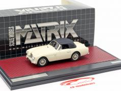 Aston Martin DB2/4 MK II DHC by Tickford Closed Top 1955 creme branco 1:43 Matrix