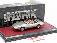 Jaguar XJ Spyder Concept Pininfarina Open Top 1978 silber 1:43 Matrix