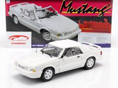 Ford Mustang LX converteerbaar Bouwjaar 1993 wit 1:18 GMP