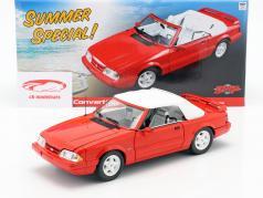 Ford Mustang LX convertible año de construcción 1992 rojo 1:18 GMP
