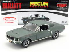 Ford Mustang GT Fastback unrestored Steve McQueen film Bullitt (1968) groen 1:18 Greenlight