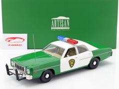 Plymouth Fury Chicksaw County Sheriff 1975 verde / blanco 1:18 Greenlight