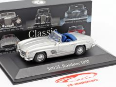 Mercedes-Benz 300 SL Roadster (W198) year 1957-1963 silver 1:43 Premium Collectibles