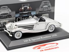 Mercedes-Benz 540K Special Roadster (W29) year 1936-1939 silver 1:43 Premium Collectibles