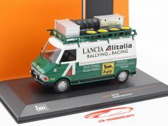 Fiat 242 busje Alitalia Lancia Rallye Service 1974 groen / wit 1:43 Ixo