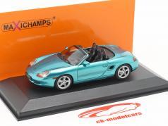 Porsche Boxster S cabriolé ano de construção 1999 turquesa metálico 1:43 Minichamps