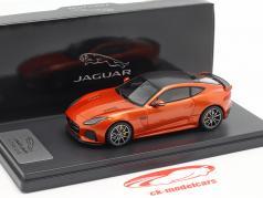 Jaguar F-Type SVR coupe Opførselsår 2016 brand sand metallisk 1:43 TrueScale