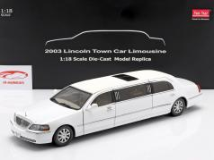 Lincoln Town Car Limousine Bouwjaar 2003 wit 1:18 SunStar