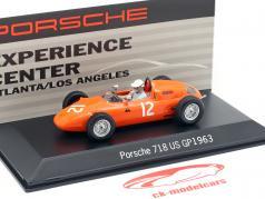 Carel Godin de Beaufort Porsche 718 #12 USA GP Formula 1 1963 1:43 Spark