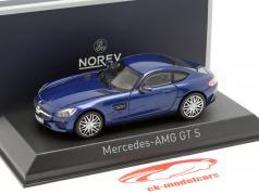 Mercedes AMG GTS año de construcción 2015 azul metálico 1:43 Norev