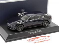 Peugoet Concept Car Exalt Version 2015 mørkeblå / sort metallic 1:43 Norev