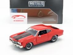 Dom's Chevrolet Chevelle SS Fast and Furious rød / sort 1:24 Jada Toys