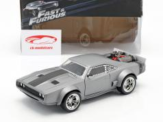 Dom's Ice Dodge Charger R/T Fast and Furious 8 plata 1:24 Jada Toys