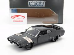 Dom's Plymouth GTX Fast and Furious 8 2017 zwart 1:24 Jada Toys