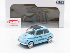 Fiat 500 San Pellegrino luz azul 1:18 Solido