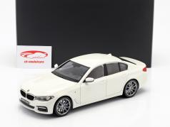 BMW 5 Series (G30) year 2017 mineral white 1:18 Kyosho
