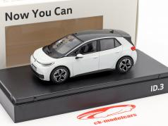 Volkswagen VW ID.3 Electric Car 2019 geleira branco 1:43 Norev