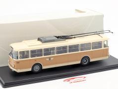 Skoda-9TR O-Bus Gera beige / bruinen 1:43 Premium ClassiXXs