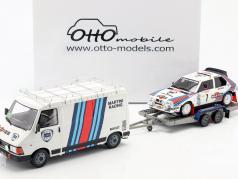 3-Car Set vencedor Rallye Monte Carlo 1986 Lancia Martini 1:18 OttOmobile