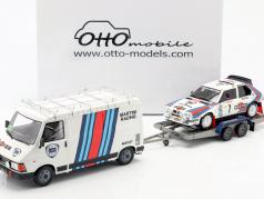3-Car Set Winner Rallye Monte Carlo 1986 Lancia Martini Team 1:18 OttOmobile