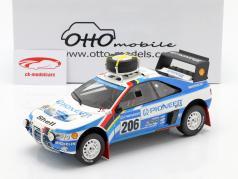 Peugeot 405 T16 #206 segundo Rallye Paris - Dakar 1989 Ickx, Tarin 1:18 OttOmobile