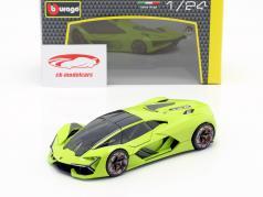 Lamborghini Terzo Millennio 築 2019 ライト グリーン 1:24 Bburago