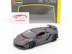 Lamborghini Sesto Elemento gris métallique 1:24 Bburago