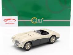 Austin Healey 100S Bouwjaar 1955 crème wit / groen 1:18 Cult Scale