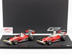 2-Car Set World Champion N. Lauda formel 1 1975 & 1977 Ferrari 312 T 1:18 GP Replicas