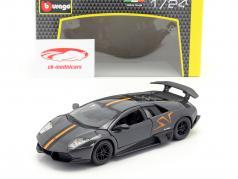 Lamborghini Murcielago LP670-4 SV grau / orange 1:24 Bburago