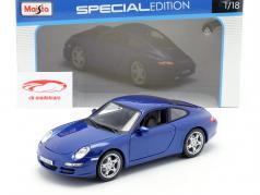 Porsche 911 (997) Carrera S blau 1:18 Maisto